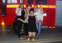 Girls at Fire Engine Limo