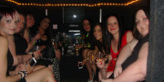 girls in fire engine limo