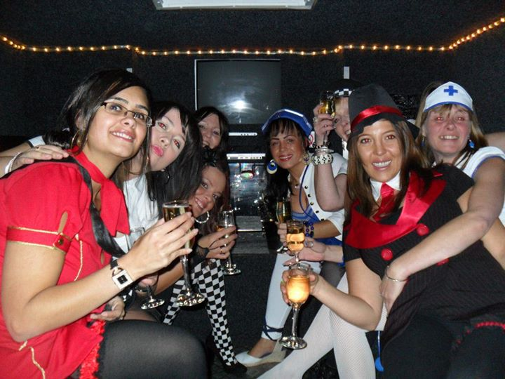 hen night fire limo