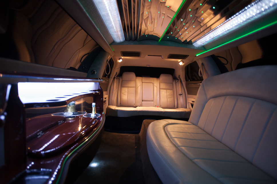 Party Bus Limo Interior with laser led lights