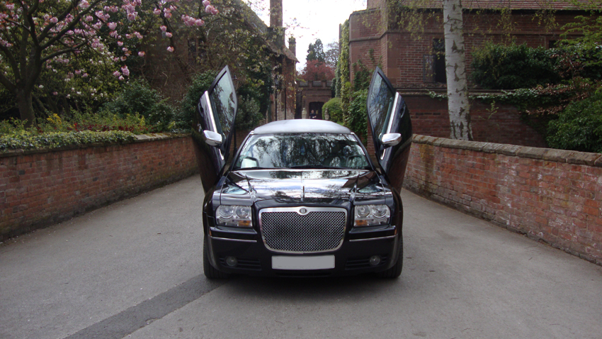 Black baby bentley gull wing doors