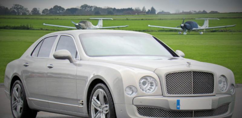 silver bentley mulsanne wedding car hire birmingham