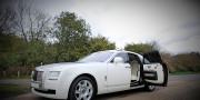white rolls royce ghost wedding car hire birmingham