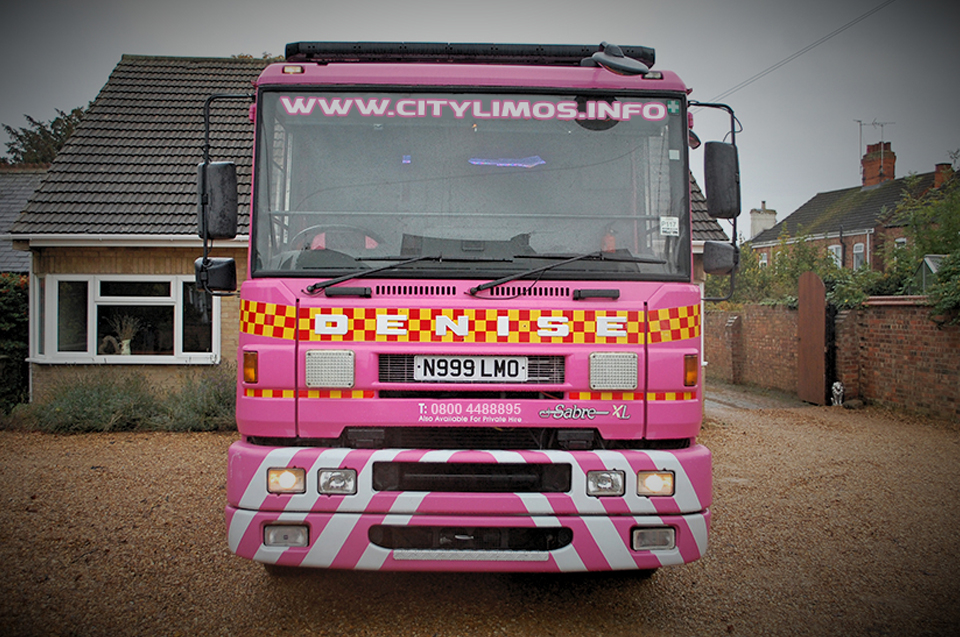 pink fire engine limo